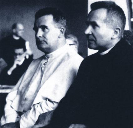Il Vescovo Paolo Hnilica ePadre Werenfried van Straaten,instancabili Apostoli negli anni '50-'80della Chiesa del Silenzio.